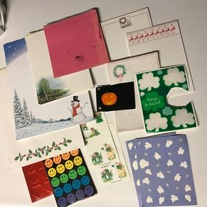 Lot of vintage stationary and stickers
